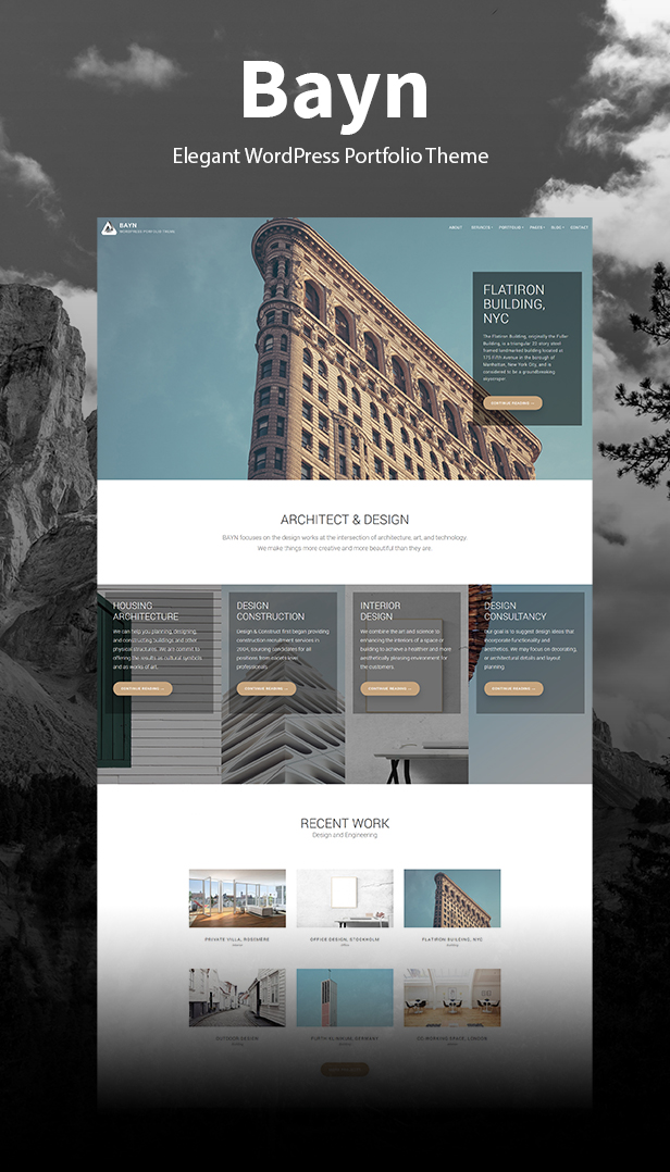 bayn wordpress portfolio theme