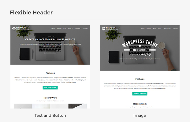 wordpress business theme thefour