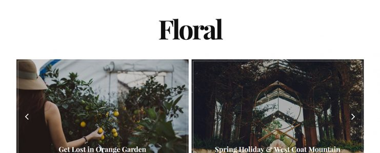 floral wordpress blog theme