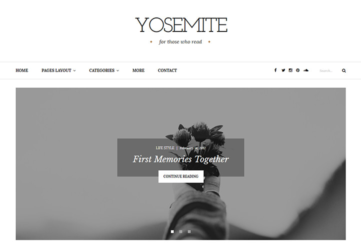 yosemite wordpress blog theme