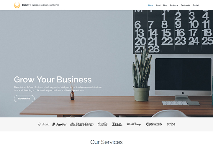 Bogaty ⋆ WordPress Business Theme ⋆ GretaThemes