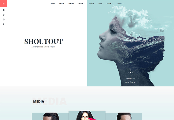shoutout wordpress music theme