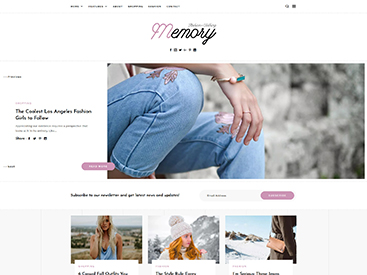 Memory WordPress Blog Theme Fashion Demo