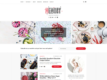 Memory WordPress Blog Theme Food Demo