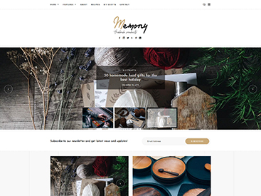 Memory WordPress Blog Theme Handmade Demo