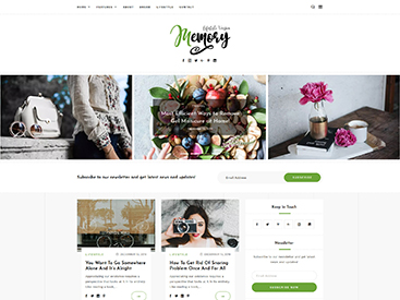 Memory WordPress Blog Theme Lifestyle Demo