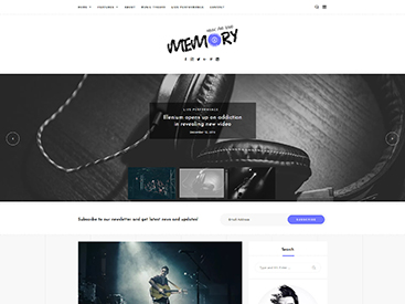 Memory WordPress Blog Theme Music Demo